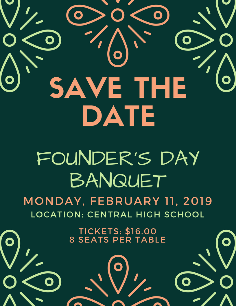 Founder's Day Banquet Save the Date